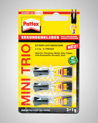 Pattex Sekundenkleber Mini Trio